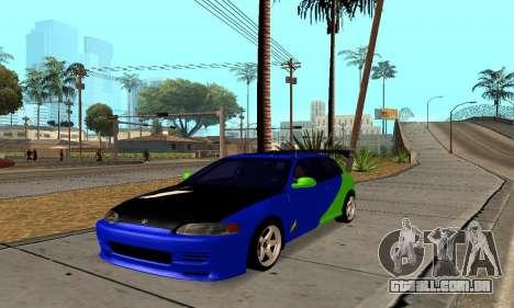 Honda Civic EG6 Tunable para GTA San Andreas traseira esquerda vista