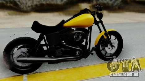 Harley-Davidson Dyna Super Glide T-Sport 1999 para GTA San Andreas traseira esquerda vista