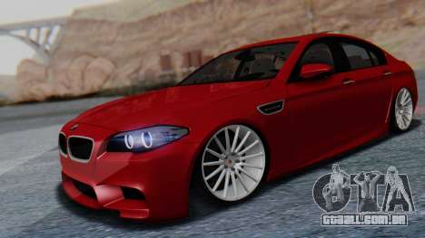 BMW M5 2012 Stance Edition para GTA San Andreas vista direita