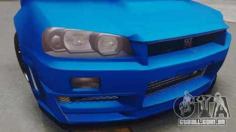 Nissan Skyline GT-R 2005 Z-Tune para GTA San Andreas vista direita