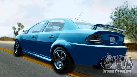 GTA 5 Declasse Premier para GTA San Andreas esquerda vista