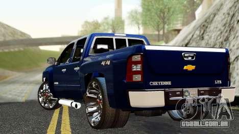 Chevrolet Cheyenne 2012 Dually para GTA San Andreas esquerda vista