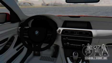 BMW M5 2012 Stance Edition para GTA San Andreas vista traseira