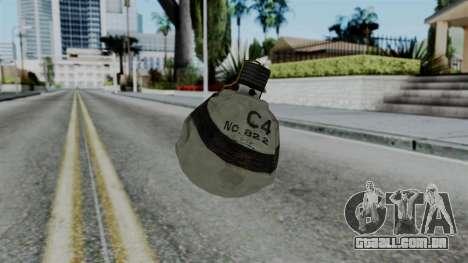 CoD Black Ops 2 - Semtex para GTA San Andreas segunda tela