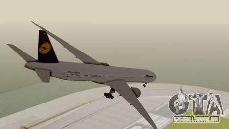 Boeing 777-9x Deutsche Lufthansa para GTA San Andreas esquerda vista