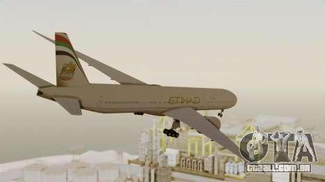 Boeing 777-9x Etihad Airways para GTA San Andreas vista direita