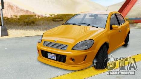 GTA 5 Declasse Premier Coupe para GTA San Andreas traseira esquerda vista