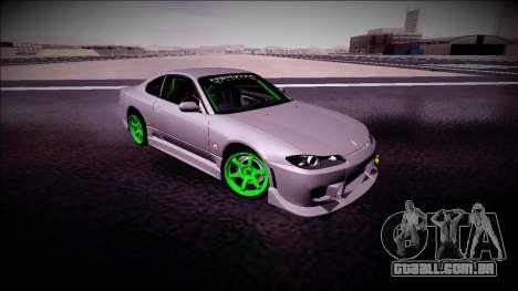 Nissan Silvia S15 Drift Monster Energy para GTA San Andreas vista traseira