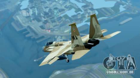 McDonnell Douglas F-15E Aggressor Desert para GTA San Andreas traseira esquerda vista