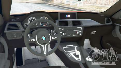 GTA 5 BMW M4 (F82) [LibertyWalk] v1.1 traseira direita vista lateral
