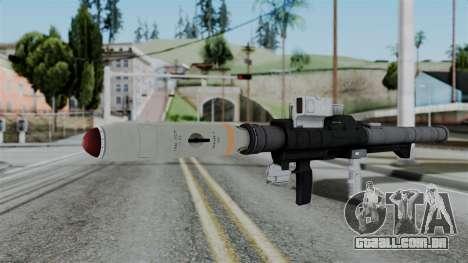 GTA 5 Homing Launcher - Misterix 4 Weapons para GTA San Andreas