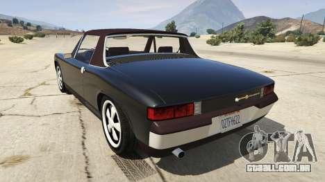 GTA 5 1970 Porsche 914 traseira vista lateral esquerda