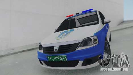 Dacia Logan Iranian Police para GTA San Andreas vista direita