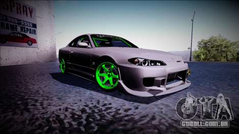 Nissan Silvia S15 Drift Monster Energy para GTA San Andreas vista direita