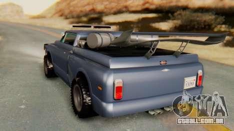Slamvan v2.0 para GTA San Andreas traseira esquerda vista