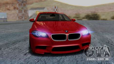 BMW M5 2012 Stance Edition para GTA San Andreas vista superior