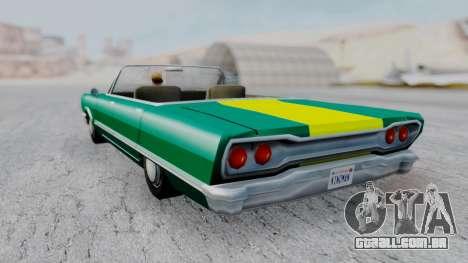 Savanna F&F4 Chevy PJ para GTA San Andreas esquerda vista