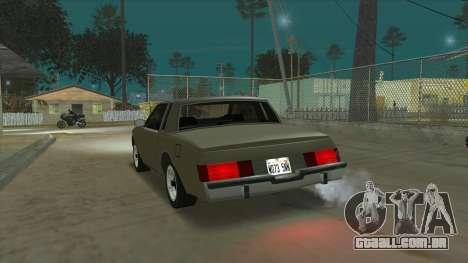 Willard Majestic para GTA San Andreas traseira esquerda vista