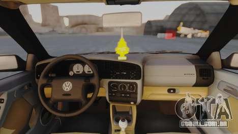 Volkswagen Golf Mk3 para GTA San Andreas vista traseira