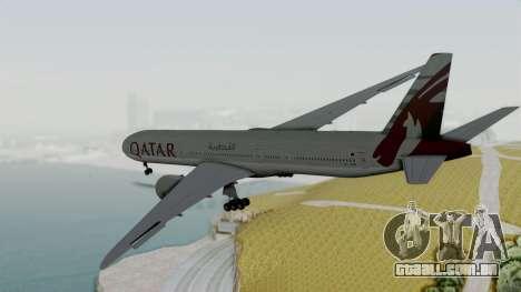 Boeing 777-9x Qatar Airways para GTA San Andreas vista direita