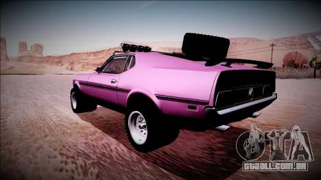 1971 Ford Mustang Rusty Rebel para GTA San Andreas esquerda vista