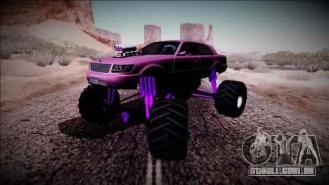 GTA 4 Washington Monster Truck para GTA San Andreas vista interior