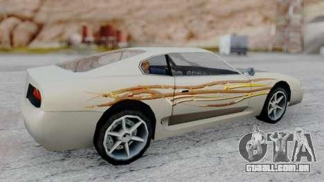 Jester F&F4 RX-7 PJ para GTA San Andreas traseira esquerda vista