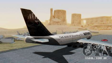 Boeing 747-428 Ed Force One para GTA San Andreas esquerda vista