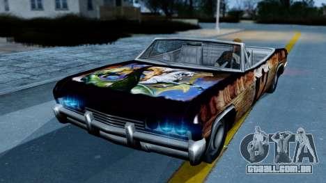 Slamvan New PJ para GTA San Andreas traseira esquerda vista