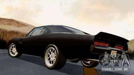 Dodge Charger from FnF4 para GTA San Andreas esquerda vista