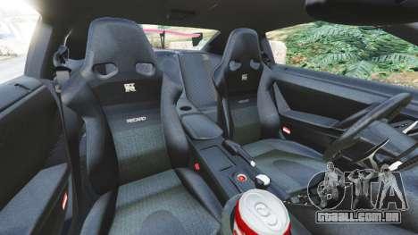 GTA 5 Nissan GT-R (R35) [LibertyWalk] v1.1 vista lateral direita