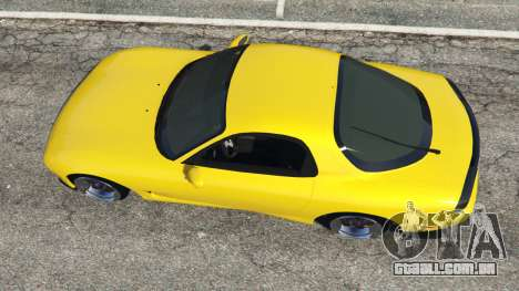 GTA 5 Mazda RX-7 FD3S Stanced [without camber] v1.1 voltar vista