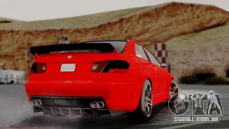 GTA 5 Benefactor Schafter V12 IVF para GTA San Andreas esquerda vista