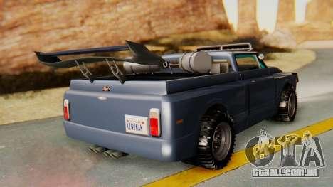 Slamvan v2.0 para GTA San Andreas esquerda vista