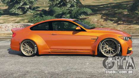 GTA 5 BMW M4 (F82) [LibertyWalk] v1.1 vista lateral esquerda