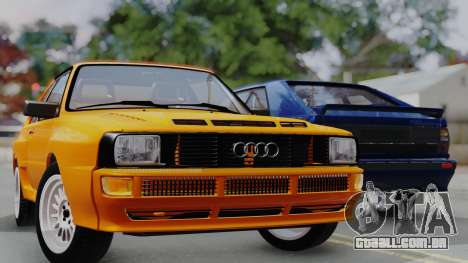 Audi Quattro Coupe 1983 para GTA San Andreas vista inferior
