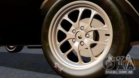 Dodge Charger from FnF4 para GTA San Andreas traseira esquerda vista