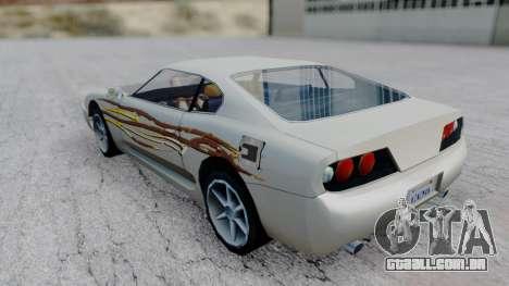 Jester F&F4 RX-7 PJ para GTA San Andreas esquerda vista