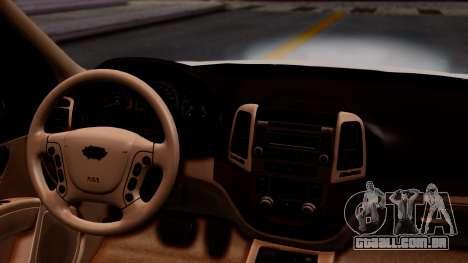 Hyundai Santa Fe para GTA San Andreas vista traseira