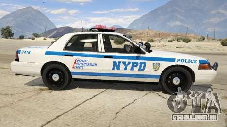 GTA 5 NYPD Ford CVPI HD vista lateral esquerda