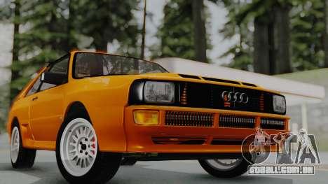 Audi Quattro Coupe 1983 para GTA San Andreas vista direita