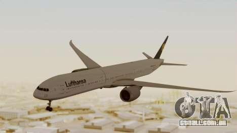 Boeing 777-9x Deutsche Lufthansa para GTA San Andreas traseira esquerda vista