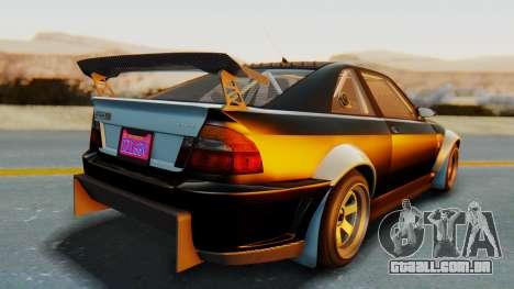 GTA 5 Karin Sultan RS Carbon IVF para GTA San Andreas traseira esquerda vista