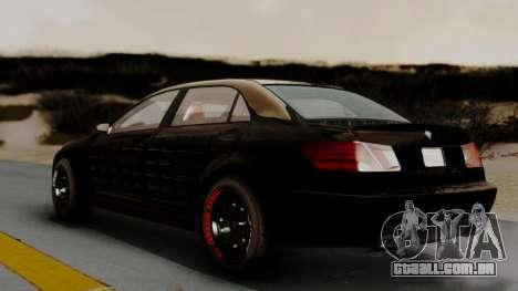 GTA 5 Benefactor Schafter LWB Arm IVF para GTA San Andreas traseira esquerda vista