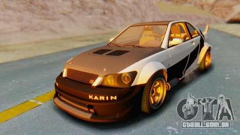 GTA 5 Karin Sultan RS Carbon para GTA San Andreas vista inferior
