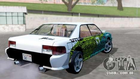 Sultan 4 Drift Drivers V2.0 para GTA San Andreas esquerda vista