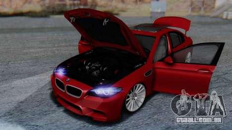 BMW M5 2012 Stance Edition para as rodas de GTA San Andreas