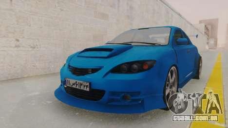 Mazda 3 Full Tuning para GTA San Andreas vista direita