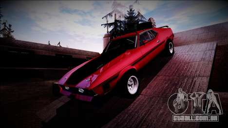 1971 Ford Mustang Rusty Rebel para GTA San Andreas vista traseira