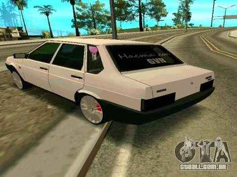 VAZ 21099 Gvr para GTA San Andreas esquerda vista
